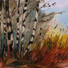 John  Williams - Birches at the Edge of Gold