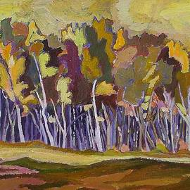 Janet Ashworth - Birches in Autumn