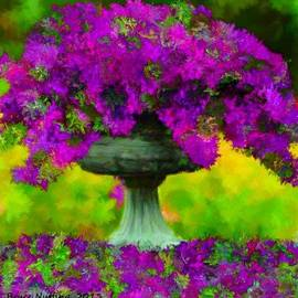 Bruce Nutting - Bird Bath Yard Flowers