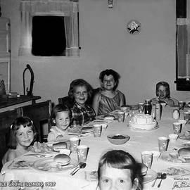 Joe Paradis - Birthday Party Table Grove Illinois 1957