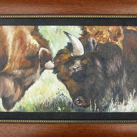 Lori Brackett - Bison Brawl FRAMED
