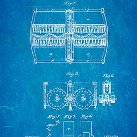 Ian Monk - Bissell Carpet Sweeper Patent Art 1876 Blueprint