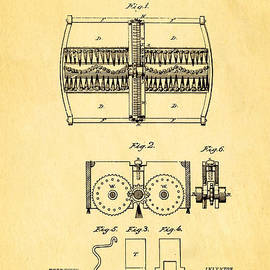 Ian Monk - Bissell Carpet Sweeper Patent Art 1876