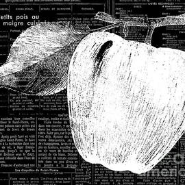 Anahi DeCanio - Black and White Apple on French Recipe