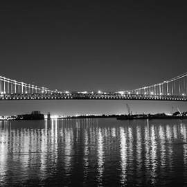 Bill Cannon - Black and White Benjamin Franklin Bridge