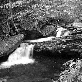 Frozen in Time Fine Art Photography - Black and White Cascade