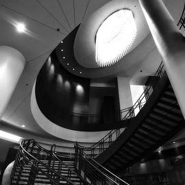 Dan Sproul - Black And White Lobby Staircase