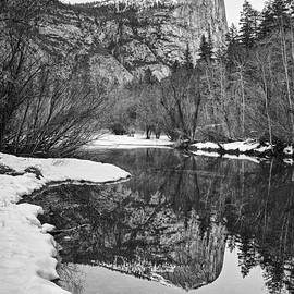 Jamie Pham - Black and White Mirror - View of Mirror Lake in Yosemite National Park.