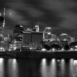 Frozen in Time Fine Art Photography - Black and White Night in Nashville