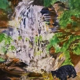 Ellen Levinson - Black Bear Fishing at the Falls