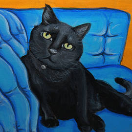 Lauren Hammack - Black Cat Doing What Cats Do Best