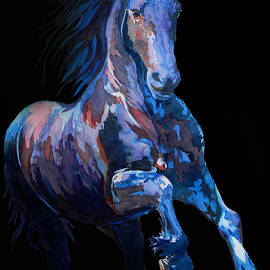 Jose Espinoza - Black Horse In Black