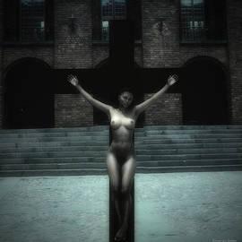 Ramon Martinez - Black woman on cross