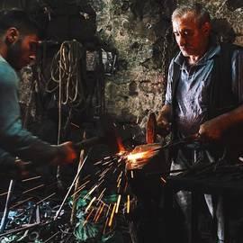 David  Hagerman - Blacksmiths In Kars Market. The Younger