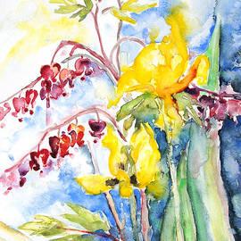 Barbara Pommerenke - Bleeding Heart With Tulips