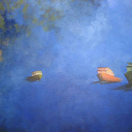 France Gionet - Bleu brouillard - Fog Blue