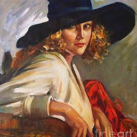 Pg Reproductions - Blonde lady - Black hat