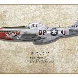 Craig Tinder - Blondie P-51D Mustang - Map Background