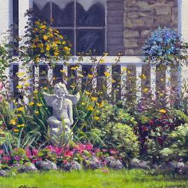 Rick Hansen - Blowing Kisses in the Garden