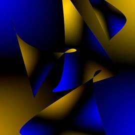 Mario  Perez - Blue and Brown Abstract Design