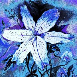 Hazel Holland - Blue and White Lily