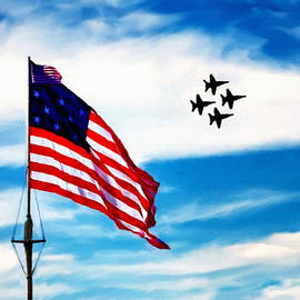 Bob Johnston - Blue Angels Fly Over Fort McHenry Flag