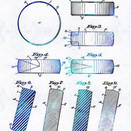 Sharon Cummings - Blue Hockey Art - Hockey Puck Patent - Sharon Cummings
