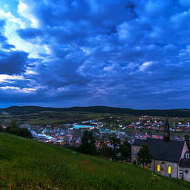 Julis Simo - Blue Hour in Checiny Town in Poland