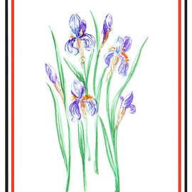 Irina Sztukowski - Blue Iris Bunch