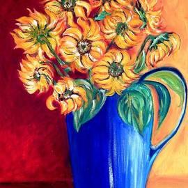 Caroline Street - Blue Jug Yellow Flowers