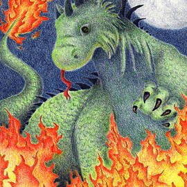 Jeanette K - Blue Moon Fire Dragon