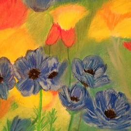 Renee Michelle Wenker - Blue Pansies