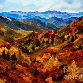 Julie Brugh Riffey - Blue Ridge Mountains in Fall II