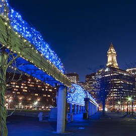 Joann Vitali - Blue Trellis in Christopher Columbus Park - Boston
