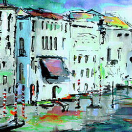Ginette Fine Art LLC Ginette Callaway - Blue Venice Grand Canal Italy Painting