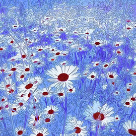 Georgiana Romanovna - Blue With White Daisies