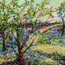 Ginette Callaway - Bluebell Foest Impressionsit Oil Painting