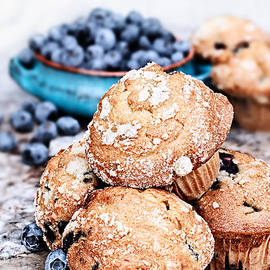 Stephanie Frey - Blueberry Muffins and Fresh Berries