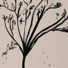 Mary Carol Williams - Bluebird and Falling Leaves