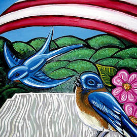 Genevieve Esson - Bluebirds With Flag