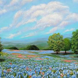 Jimmie Bartlett - Bluebonnet Fields in Texas