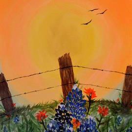 Melinda Baugh - Bluebonnet Sunset