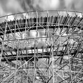 Bill Cannon - Boardwalk Rollercoaster in Wildwood in Black and White