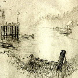 Joseph Hawkins - Boat Pier Pencil