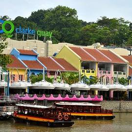 Imran Ahmed - Boats at Clarke Quay Singapore River