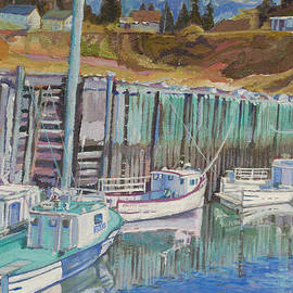Janet Ashworth - Boats at Halls Harbour