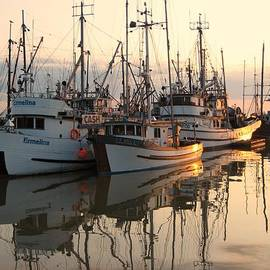 Shirley Sirois - Boats at Steveston Harbour