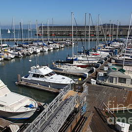 Wingsdomain Art and Photography - Boats at The San Francisco Pier 39 Docks 5D26004