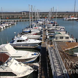 Wingsdomain Art and Photography - Boats at The San Francisco Pier 39 Docks 5D26005