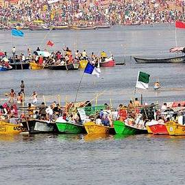 Kim Bemis - Boats at the Sangam - Kumbhla Mela - Allahabad India